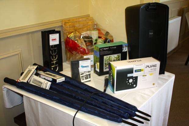 Fantastic prizes donated for Raffle
